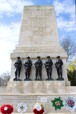 st jamess: Memorial at Horseguards in St. Jamess Park, circa March 2009 in London, England. The memorial was built to those who died in the Great War 1914 ? 1918