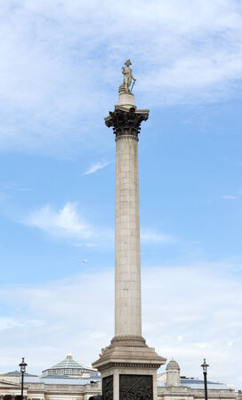 Nelson's column in Trafalgar Square, London   photo