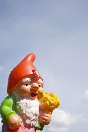 cliche': Garden gnome  Stock Photo
