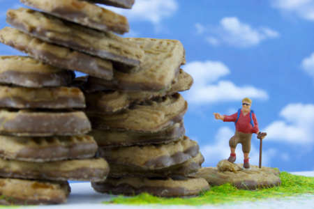 On the mountain of biscuits Stock Photo - 6736554