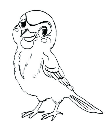 chickadee: Sparrow, bird, character