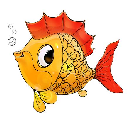 cute child character, digital illustration