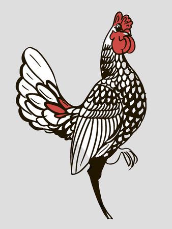 rooster - new year symbol, decorative bird toy Illusztráció