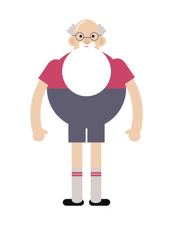 Grandpa hipster in glasses, with a beard.