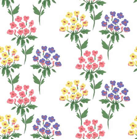 Cute floral pattern of hydrangea