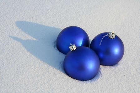 Christmas tree decorations on the snow Stock Photo - 6625804