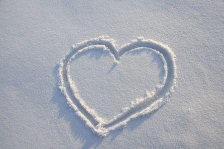 corazones azules: Coraz�n de nieve