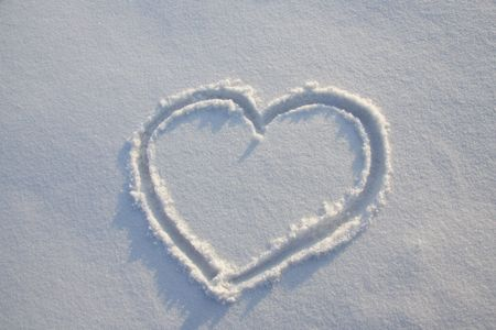 Snow heart photo