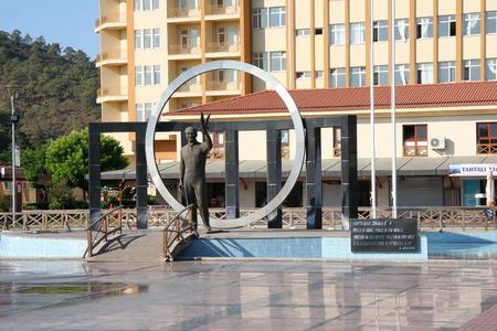 mustafa: Kemer, Turkey - september 5 2009 : :Monument of Mustafa Kemal Atataturk in Kemer, Turkey.
