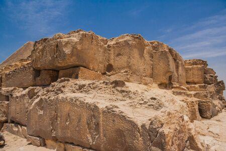 Ancient ruins of the Giza Necropolis, Giza Plateau, Egypt.