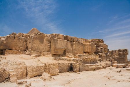 necropolis: Ancient ruins of the Giza Necropolis, Giza Plateau, Egypt.