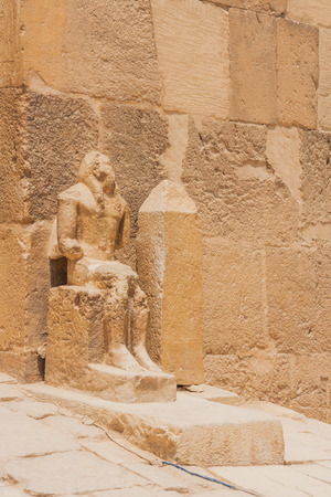egyptology: Ancient ruins of the Giza Necropolis, Giza Plateau, Egypt.