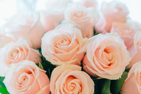 Tea roses bouquet Stock Photo