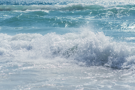 Sea wave in the Gulf of Thailand photographed close-up Stock Photo