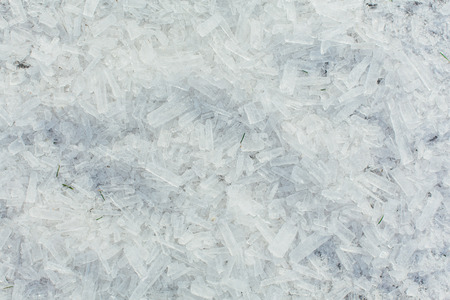 Amazing abstract broken ice crystals texture. Clear melting ice background. Copy space. Stockfoto