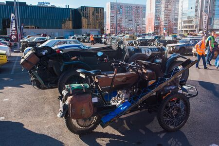 Novokuznetsk, Russia, 13 June 2019: The 7th Peking to Paris Motor Challenge is unique in the motoring world a true endurance motor rally following in the wheel-tracks of the original pioneers of 1907 Editorial