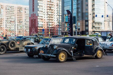 Novokuznetsk, Russia, 14 June 2019: The 7th Peking to Paris Motor Challenge is unique in the motoring world a true endurance motor rally following in the wheel-tracks of the original pioneers of 1907 Editorial
