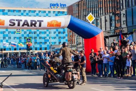 Novokuznetsk, Russia, 13 June 2019: The 7th Peking to Paris Motor Challenge is unique in the motoring world a true endurance motor rally following in the wheel-tracks of the original pioneers of 1907 Editoriali