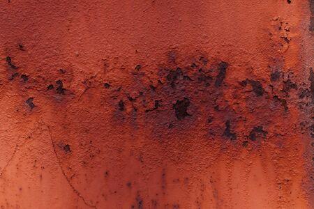 Old metal door rusty corroded texture background Stockfoto