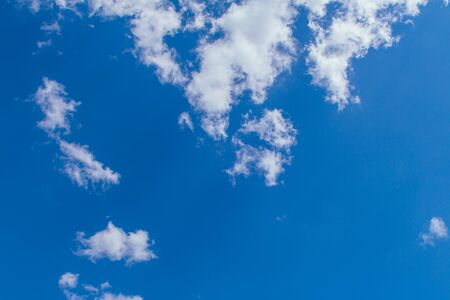 Blue sky background with clouds and sun light 免版税图像 - 127127178