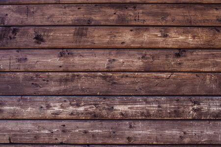 Natürliche Holzstruktur. Hintergrund aus braunen Holzbohlen.