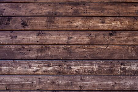 Wooden natural texture. Brown wooden planks background.