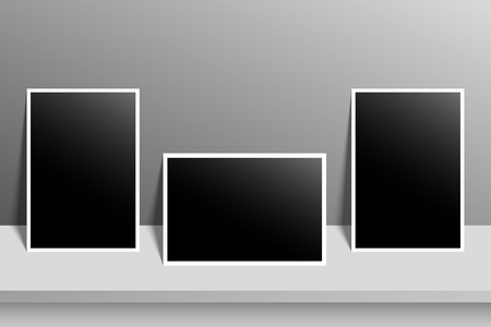 retrospect: High resolution image of blank photo for designs and frames.