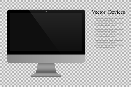 isolated: Realistic computer monitor isolated background. Illustration