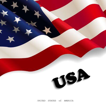 waving American flag