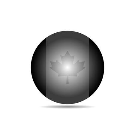Canadian flag in a circle on a white background