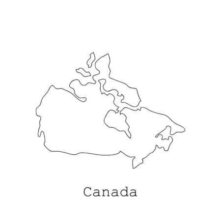 allied: Canada map on a white background