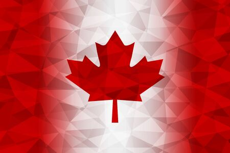 Canada bandiera rosso poligonale