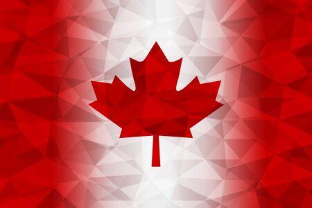 drapeau du Canada polygonale rouge