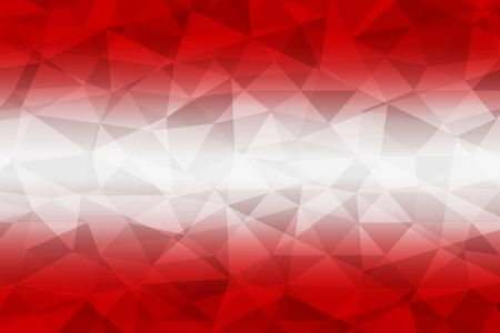 Austria flag polygonal