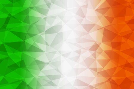 ireland flag: Ireland flag polygonal Illustration