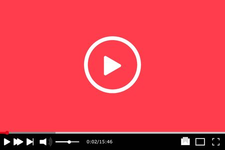 Video player for web. illustration.