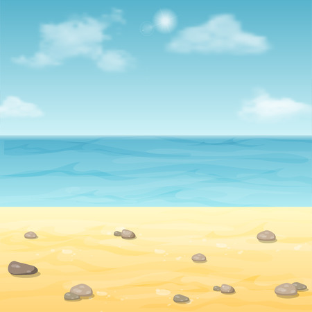 Empty summer sea beach Ilustração