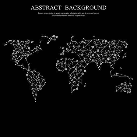 Polygonal abstract world map.  illustration. Illustration