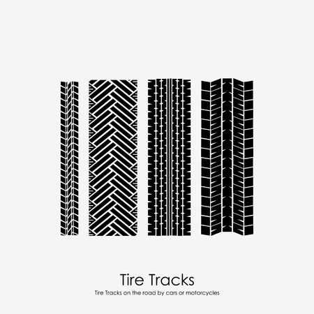 traction: Four tire tracks