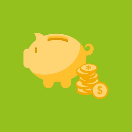 Moneybox vector icon Illustration