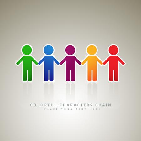 Rainbow people, logo company