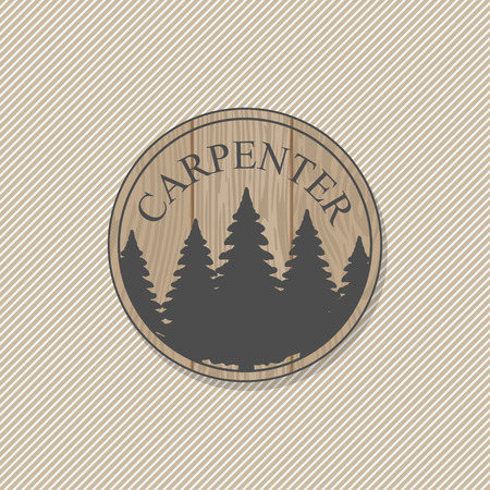 smoothing: Woodworking badges logos and labels. Interesting design template for your company logo