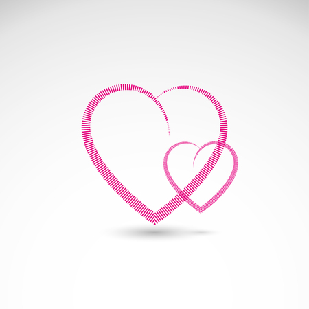 Simple hearts icon with lines representing love