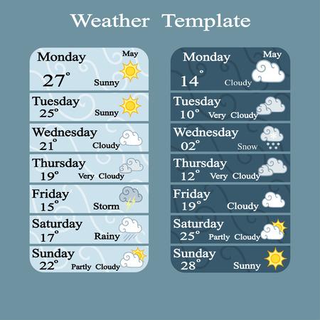 uv index: Weather widgets template Illustration