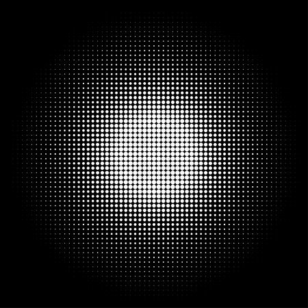 Abstract halftone background. Halftone dots. Black background