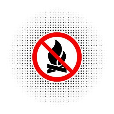 forewarn: No Fire Vector Sign