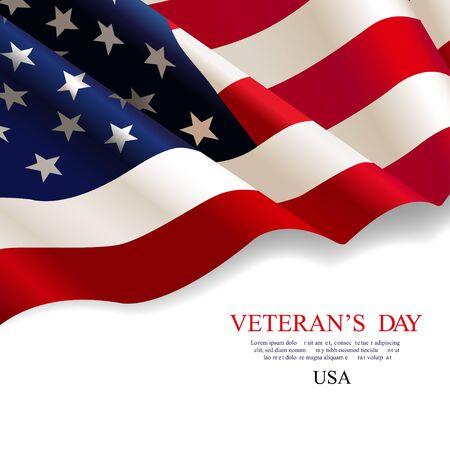 Veterans day. Flag USA Illustration