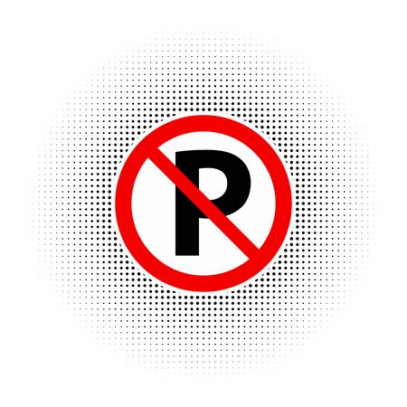 No parking sign Illustration