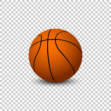 Vector Basketball isolated on blanck background. Vector basketball ball Illustration