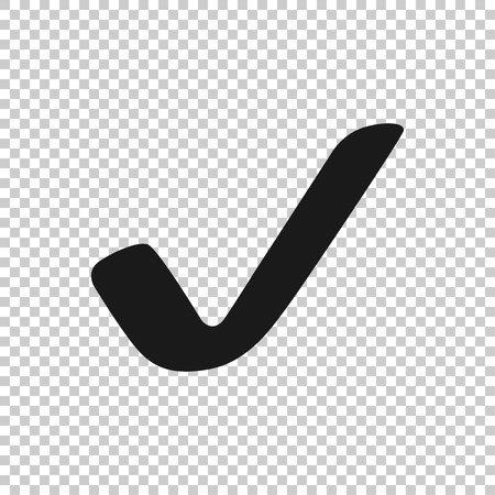 Check mark icon. Check mark vector icon. Check icon in trendy flat style